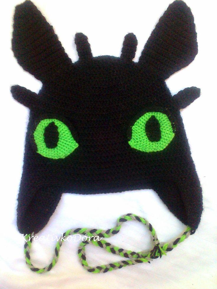 Crochet Toothless hat