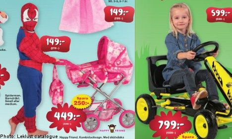 """""""This Swedish toy catalogue, Leklust is allowing the children out of the gender binary cage to play and sell toys. Wheeeeeeeeeee.    (Yes, I know, all the baby doll stuff is still a sea of pink but this is one big step closer)."""": Swedish Toy, Baby Doll, Children Toys, Toy Catalog, Gender Stereotype, Gender Neutral, Boy, Kid"""