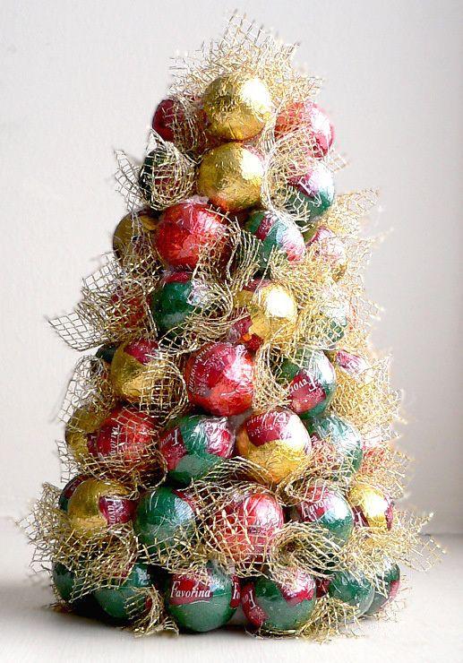 arbol de navidad hecho de bombones ideas navidad diy cocina navideña