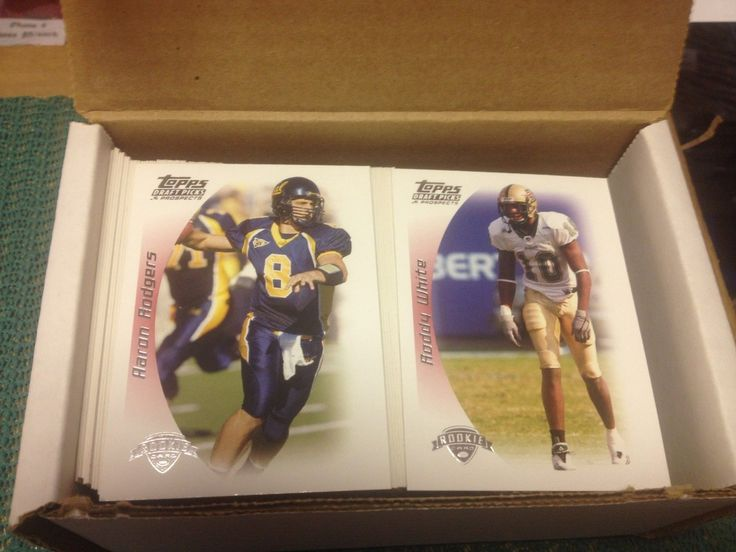2005 TOPPS DRAFT PICKS & PROSPECTS FOOTBALL SET 1-170 (165) AARON RODGERS ROOKIE