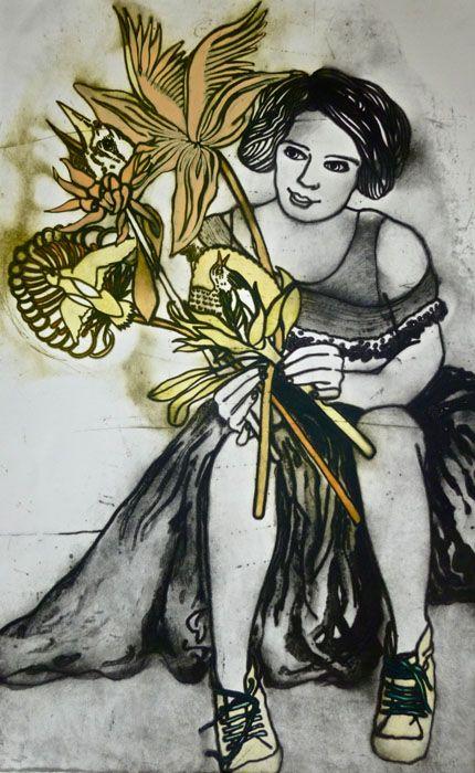Bunch of favourite songs by Mandy Renard - printmaker - Tasmanian artist