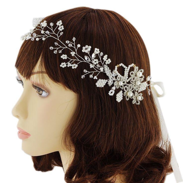 Azaleas Silver Blossom Wedding Hair Comb wedding headband Bridal Headband Hair Vine Headpiece -- Want additional info? Click on the image. #hairhowto