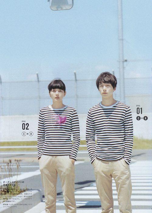 菊池亜希子、坂口健太郎 for リンネル, 09/2014
