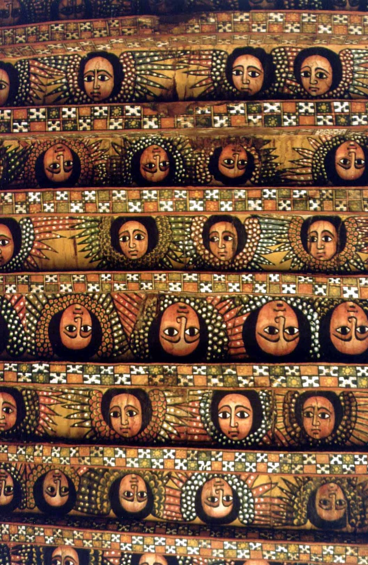 ceiling of the church of Debre Birhan