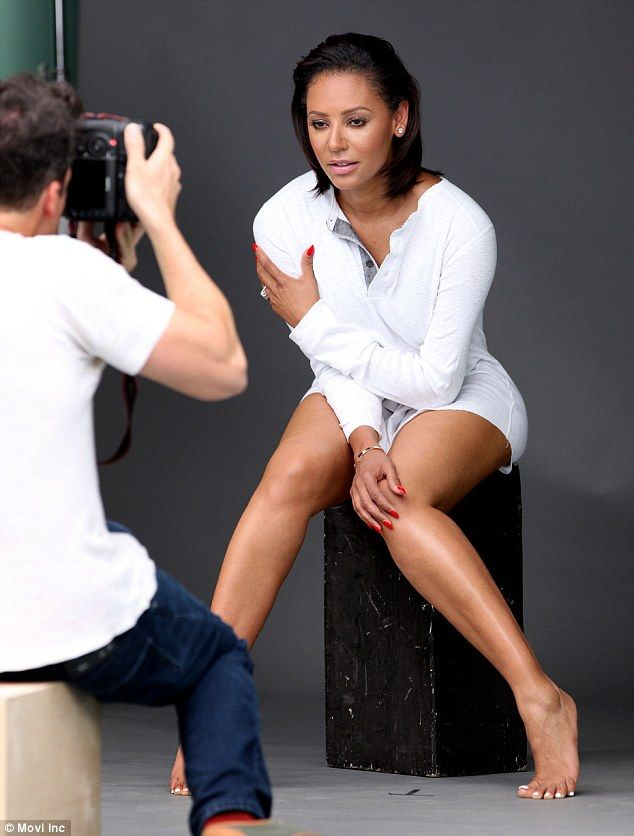 Sitting pretty: The mother-of-three displayed her natural side in another snap taken from ...
