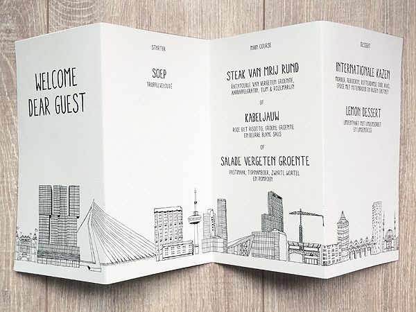 Made by Marianne Lock / Illustration of the Rotterdam Skyline / H&M / Graphics by Glamcult
