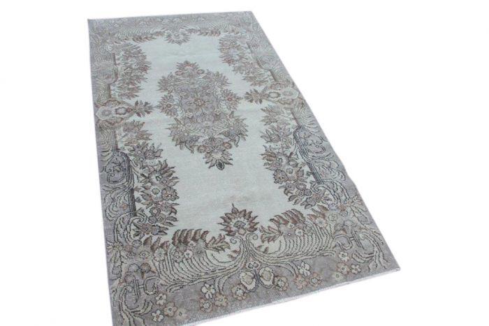 Vintage vloerkleed, grijs 203cm x 113cm | Rozenkelim.nl - Groot assortiment kelim tapijten