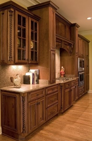 Rustic cherry cabinets kitchens