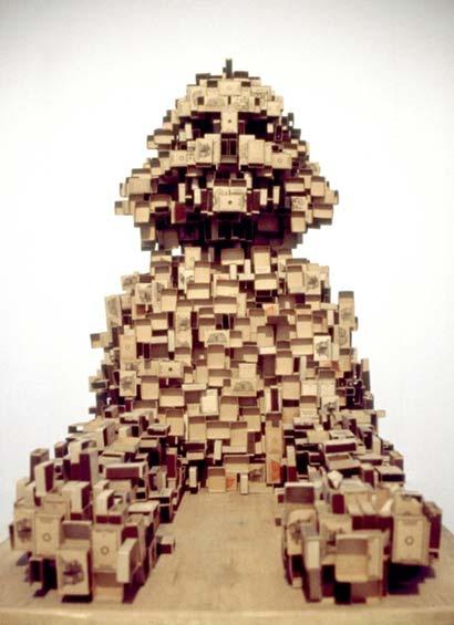 krzysztof m. bednarski, sfinks, 1984, pudełka od zapałek