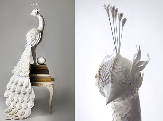 Bird Paper Sculpture by the Makerie Studio