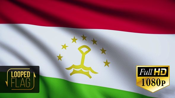 Tajikistan Flag by bourjart National Flag of Tajikistan Realistic looping animation with Highly Detailed fabricQuicktime MOV1920x1080Photo JPEG29.9710 secondsIf you like this item please rate. Thank you for purchasing!