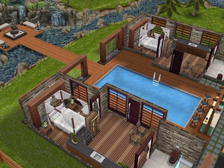 House 62 Spa Retreat Level 1 Sims Simsfreeplay