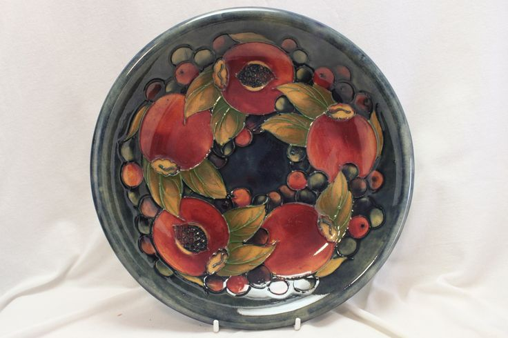 A lovely Moorcroft bowl decorated with luscious Pomegranates. C 1928. www.chinaroseantiques.com.au