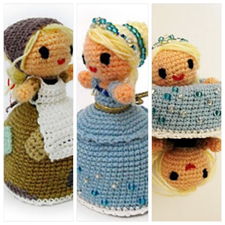 Free Crochet Disney Amigurumi Patterns : Rags to Riches, transformable Cinderella amigurumi. Free ...