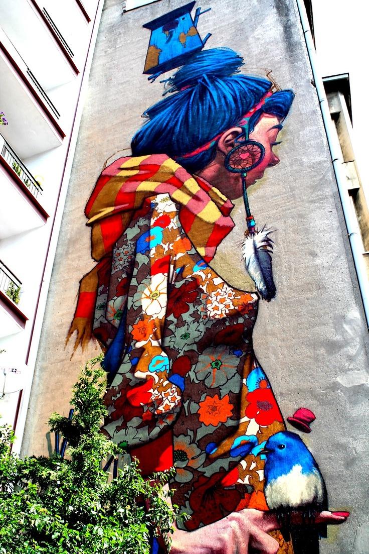 mural, Łódź.