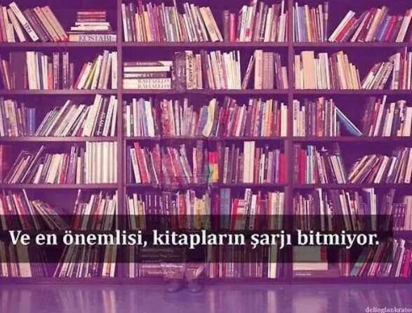 Kitapların şarjı bitmiyor...