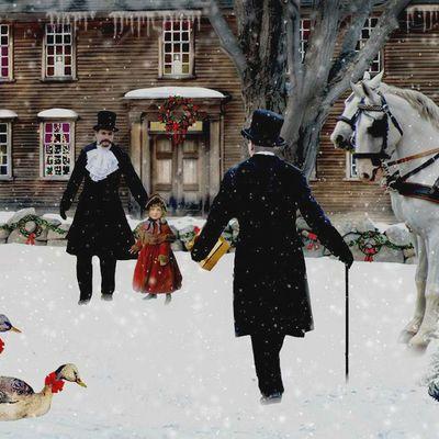 Пазл онлайн: Викторианское рождество