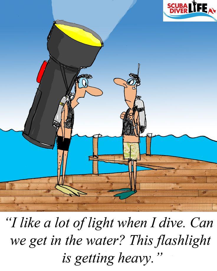 Scuba Cartoon: I Need Light |