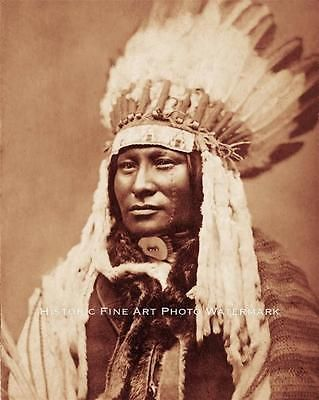 SIOUX INDIAN WAR CHIEF RAIN-IN-THE-FACE VINTAGE PHOTO NATIVE AMERICAN #20814