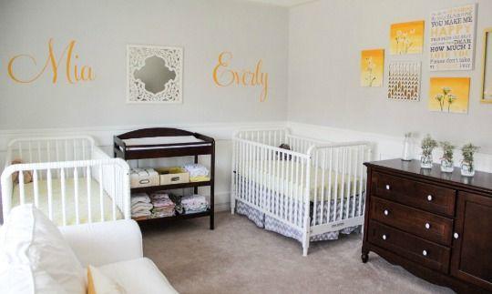 Las 25 mejores ideas sobre habitaciones de gemelos en - Habitaciones de bebe pequenas ...