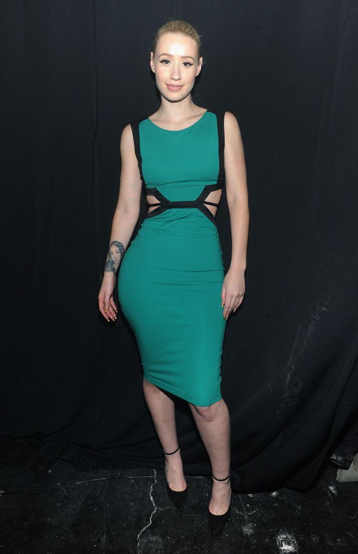 Singer Iggy Azalea was wearing a #RobertoCavalli dress for ...