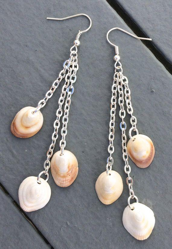 Seashell earrings chandelier shell earring by ALittlePieceOfTheSea