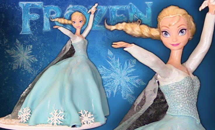 FROZEN ELSA PRINCESS CAKE How To Cook That Elsa Doll Cake Ann Reardon
