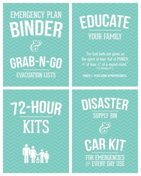 FREE PRINTABLES to create a Family Emergency Plan Binder