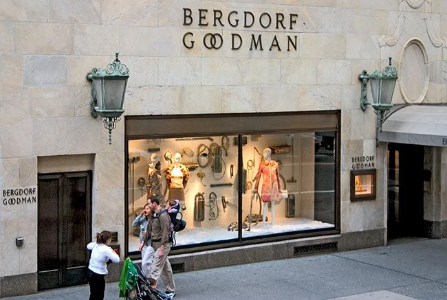 Bergdorf Goodman. The only department I could afford to shop in was the cosmetics department.