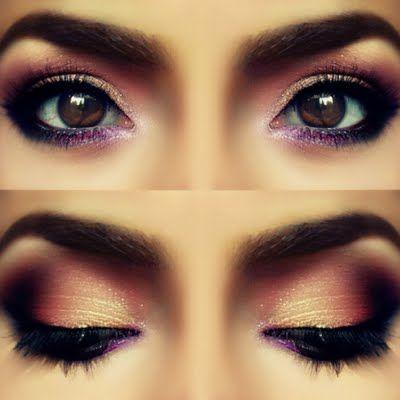 Rose Petals inspired eye makeup
