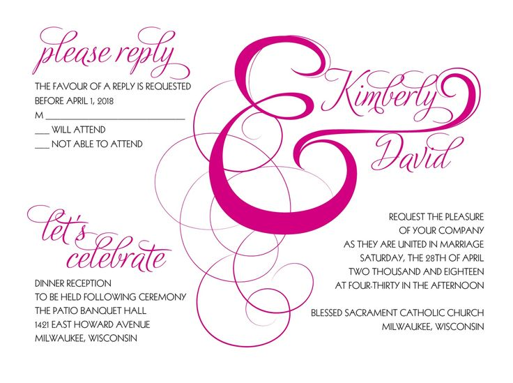 Elegant Ampersand Wedding Invitation Bundle - Begonia | Invitations by David's Bridal
