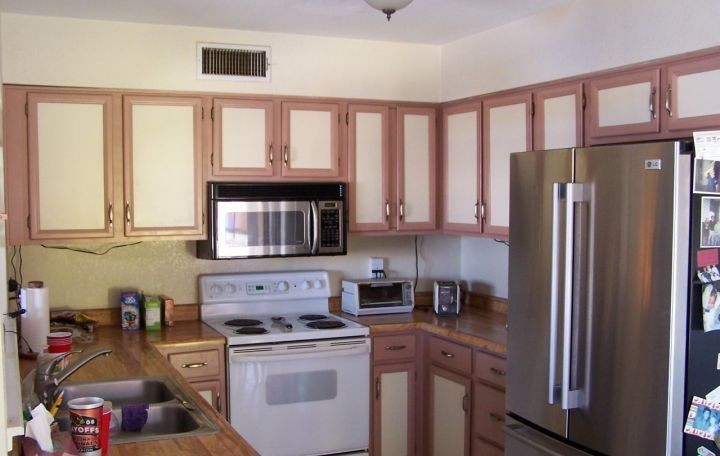 Painting Kitchen Cabinets Two Colors | ugly bad idea two-toned paint colors kitchen cabinets Glendale Arizona ...