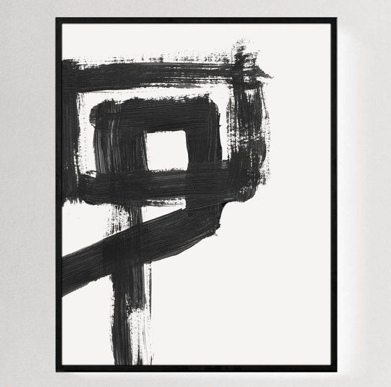 Large wall prints black and white painting abstract wall art minimalist art abstract poster wall art prints large print minimal decor