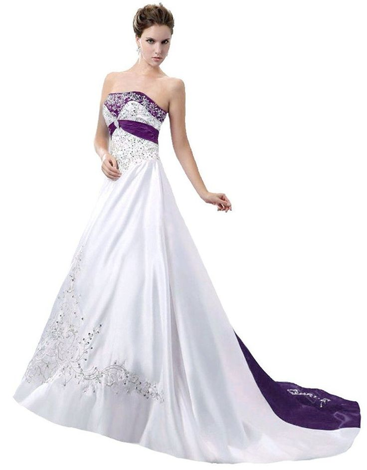 RohmBridal Women's Strapless Wedding Dress Bridal Gown >>> New and awesome  product awaits you
