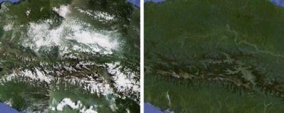 Solamente los cielos despejados en Google Maps y Earth