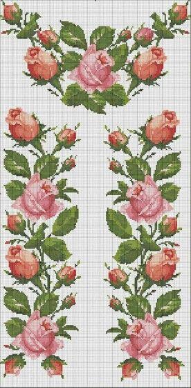 Rosas para caminho de mesa