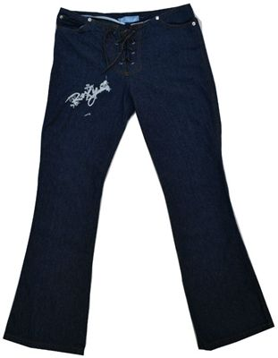 Now on #sale for $9. Add to cart for lower price. ROXY Indigo Blue Lace Up Jeans http://goo.gl/fG4bci  #surfer #fashion