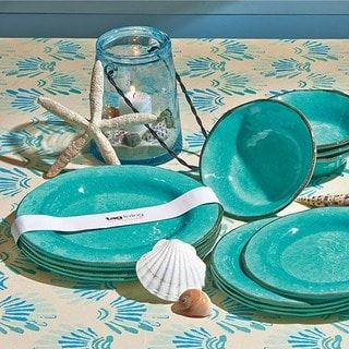 Shop for TAG Veranda Melamine Dinner Plates Ocean Blue and more for everyday discount prices at Overstock.com - Your Online Kitchen & Dining Store!