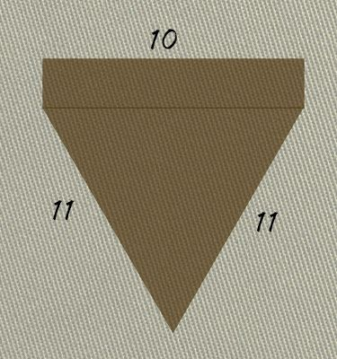 DIY Burlap Pendant Banner Dimensions