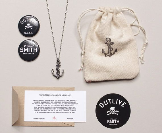 Men's Necklaces  Men's Jewelry Anchor Necklace. by weareallsmith