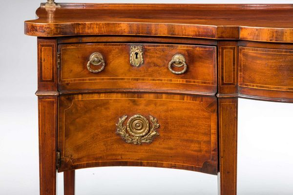George III Period Serpentine Mahogany Sideboard (Ref No. 4285) - Windsor House Antiques