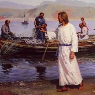 """""""And he said to them, """"Follow me, and I will make you fishers of men."""" Matthew 4:19"""