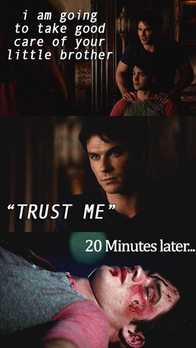 Oops. He did save his life though. That was a sweet scene. Never forget that Damon is an older brother.
