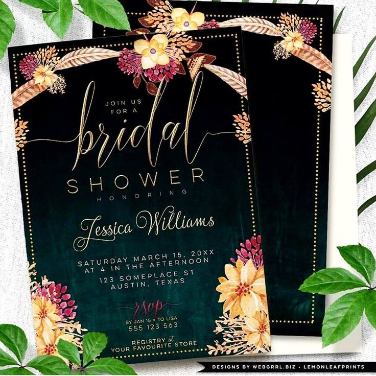 One of my newest designs : Bohemian Floral Feathers Bridal Shower Invitation .  21st century #Bohemian inspiration with flowers and #feathers on dark teal to black #chalkboard textured background .  check at iSHOP.WEBGRRL.BIZ . . #floral #custominvitations #weddingshower #invitationcard #invitations #custominvites  #invitationdesign  #bridalshower #bridalshowerinvitation  #blackbackground #invitationcard #invitations