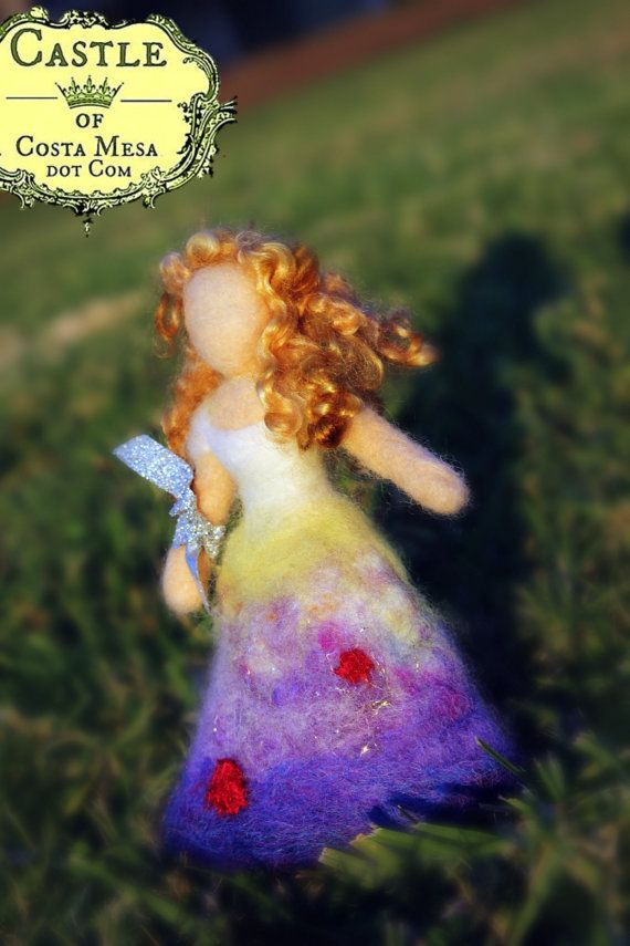 Miss Upside Down Pansy Flower Fairy. by Castleofcostamesa on Etsy