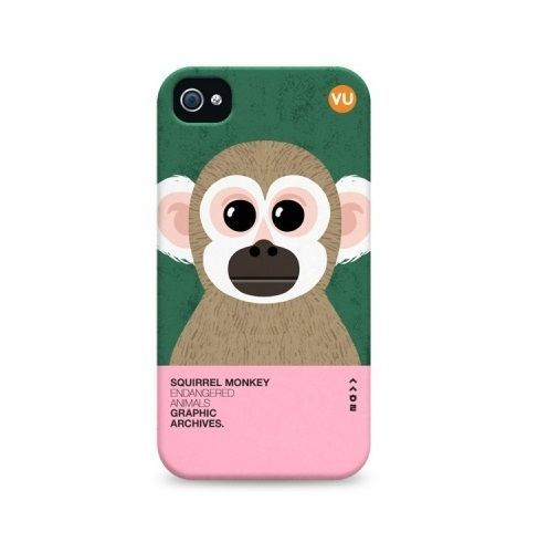 "Endangered Animals Illustration printed case for iphone 4 4s ""Squirrel Monkey""  #SungsilHwarang"