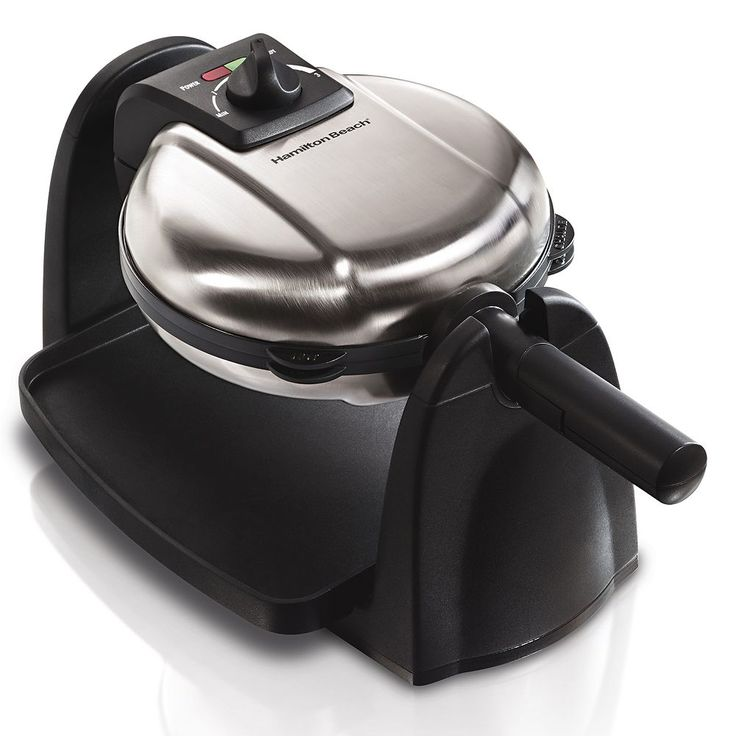 Hamilton Beach Flip Waffle Maker with Removable Grid, Black