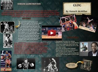 The Harlem Globetrotters are an exhibition basketball team that combines athleticism, theater, and comedy. Over the years they have played more than 26,000 exhibition games in 122 countries and territories. #glogster #glogpedia #harlemglobetrotters