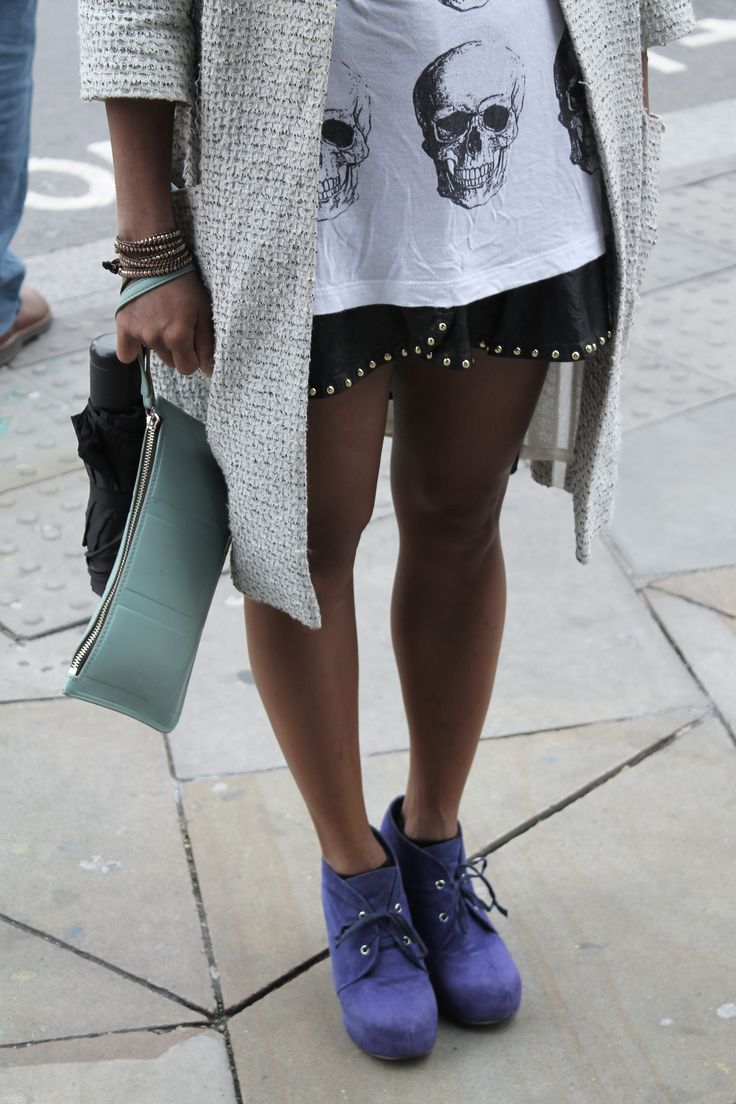 Triple trending with pastels, grunge and leather. Shoreditch Style