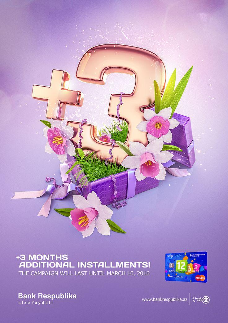 """查看此 @Behance 项目:""""Bank Respublika """"+3"""" March Campaign""""https://www.behance.net/gallery/34697785/Bank-Respublika-3-March-Campaign"""